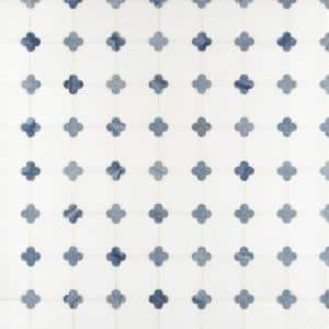 Azula Floret 12 in. x 12 in. x 10mm Polished Marble Mesh-Mounted Mosaic Tile (10 sq. ft. / Case)