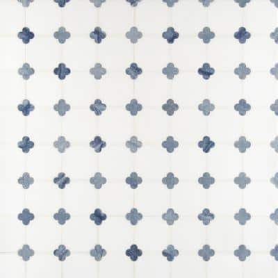 Azula Floret 12 in. x 12 in. x 10 mm Polished Marble Mosaic Tile (10 sq. ft. / case)
