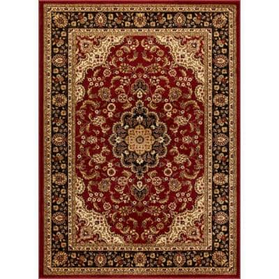Barclay Medallion Kashan Red 4 ft. x 5 ft. Traditional Area Rug