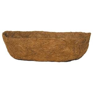 English Garden 30 in. Premium Window Basket Replacement Coconut Liner with Soil Moist Mat