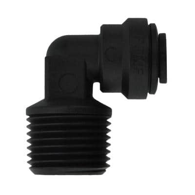 1/4 in. OD x 3/8 in. NPTF Push-to-Connect Male Fixed Elbow Fitting (10-Pack)