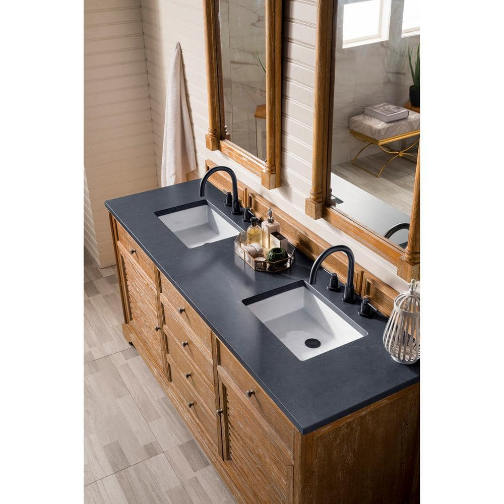 James Martin Vanities Savannah 72 In Single Bath Vanity In Driftwood With Quartz Vanity Top In Charcoal Soapstone With White Basin 238 104 5711 3csp The Home Depot