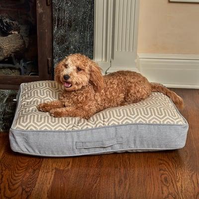 Sadie Reversible Small Gray Geomtric Olefin Pet Bed