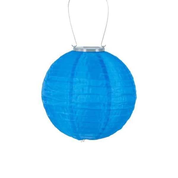Allsop Glow 10 In Blue Round, Allsop Home And Garden Solar Lantern