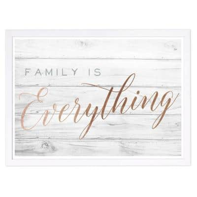 """Motivational Quotes """"Family is Everything"""" Framed Art Print 13 in. x 19 in."""