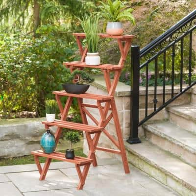 Wooden Plant Stand (5-Tier)