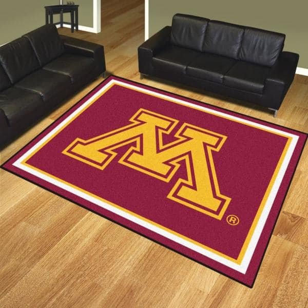 Fanmats Ncaa University Of Minnesota Red 10 Ft X 8 Ft Indoor Rectangle Area Rug 18906 The Home Depot
