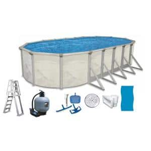 Independence 16 ft. x 32 ft. Oval 52 in. D Above Ground Hard Sided Pool Package