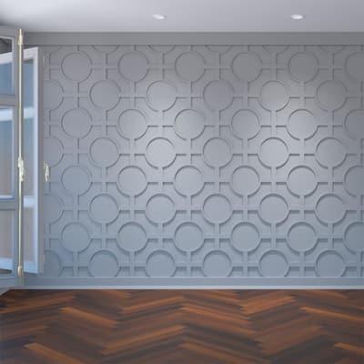 "3/8"" x 27-3/4"" x 15-3/8"" Chesterfield Decorative Fretwork Wall Panels in Architectural Grade PVC"