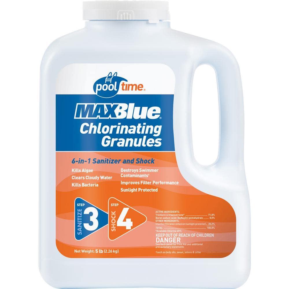 Pool Time Maxblue 5 Lb Chlorinating Granules 22505ptm The Home Depot