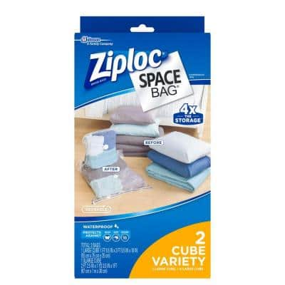 Space bags 1 Large, 1 XL Cube Combo Bags (2-Pack)