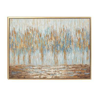 """36 in. x 47 in. Abstract """"Autumn Colorfield"""" Canvas Art"""