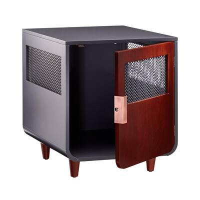 Radius Wooden Dog Crate - Mocha Walnut - Small