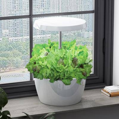 Hydroponics Growing System Indoor Herb Garden with Automatic Timer LED Lighting Germination Kits (4-Pods)