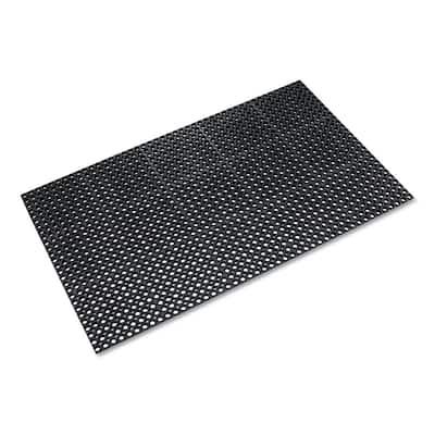 Safewalk Black 36 in. x 60 in. General Purpose Heavy-Duty Drainage Anti-Fatigue Mat