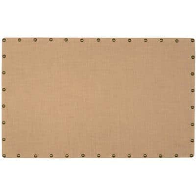 Brown Burlap Nail Head Cork Memo Large Board