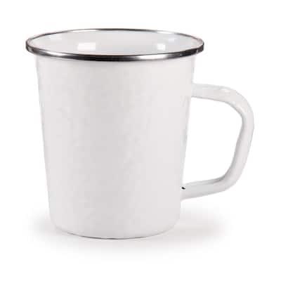 Solid White 16 oz. Enamelware Latte Mug Set of 4