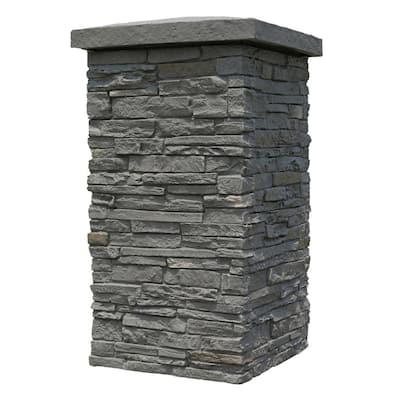 Slatestone Rundle Ridge 30 in. x 16 in. Faux Polyurethane Stone Column Wrap (4-Piece)