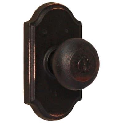 Molten Bronze Oil-Rubbed Bronze Premiere Keyed Entry Wexford Door Knob