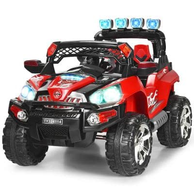 12-Volt Kids Ride On Truck Car SUV MP3 RC Remote Control with LED Lights Music Red