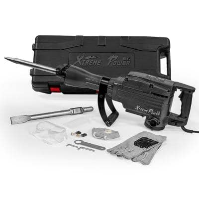 2200-Watt 27 in. Heavy-Duty Electric Jack Hammer Demolition Concrete Breaker Tool Kit