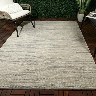 Choron White 8 ft. x 10 ft. Flatweave Indoor/Outdoor Area Rug