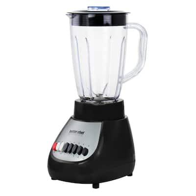 50 oz. 10-Speed Black 350-Watt Blender with Plastic Jar
