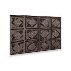 18.5'' x 24.3'' Artnouvo Decorative 3D PVC Backsplash Panels in Smoked Pewter 9-Pieces
