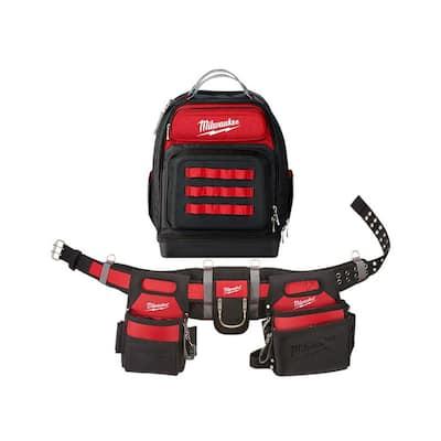 Adjustable Electricians Work Belt with Ultimate Jobsite Backpack