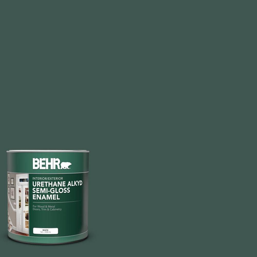Behr 1 Qt Home Decorators Collection Hdc Cl 21a Dark Everglade Semi Gloss Enamel Urethane Alkyd Interior Exterior Paint 393004 The Home Depot
