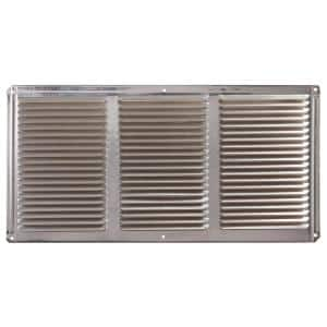 16 in. x 8 in. Aluminum Under Eave Soffit Vent in Mill (Carton of 36)