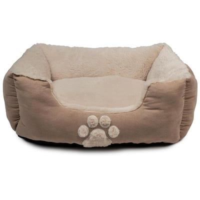 Roxi Large Pale Pink Square Pet Bed