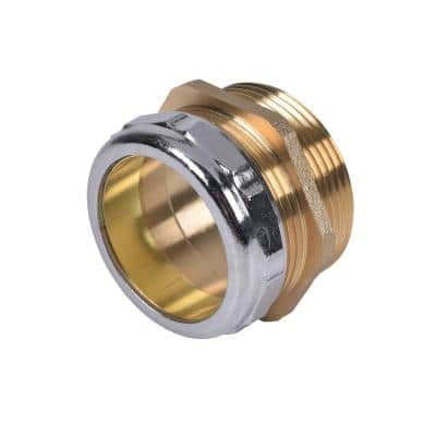 1-1/2 in. Brass Threaded Male Sink Drain Pipe Connector with Female Copper Sweat Connection