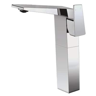 AB1475-PC Single Hole Single-Handle Bathroom Faucet in Polished Chrome