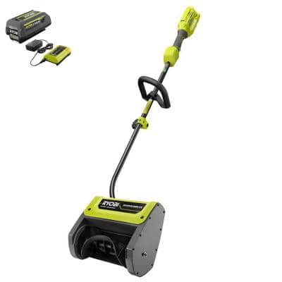 40V Expand-It™ 12 in. Cordless Battery Attachment Capable Snow Shovel with 4.0 Ah Battery and Charger