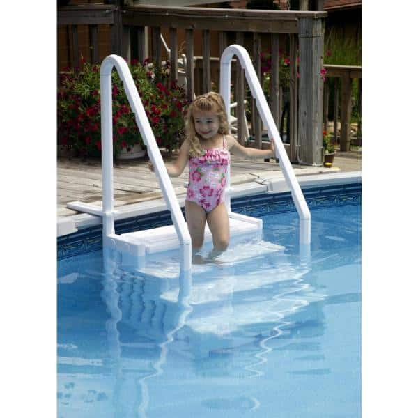 Blue Wave Easy Pool Step For Above Ground Pools Ne113 The Home Depot