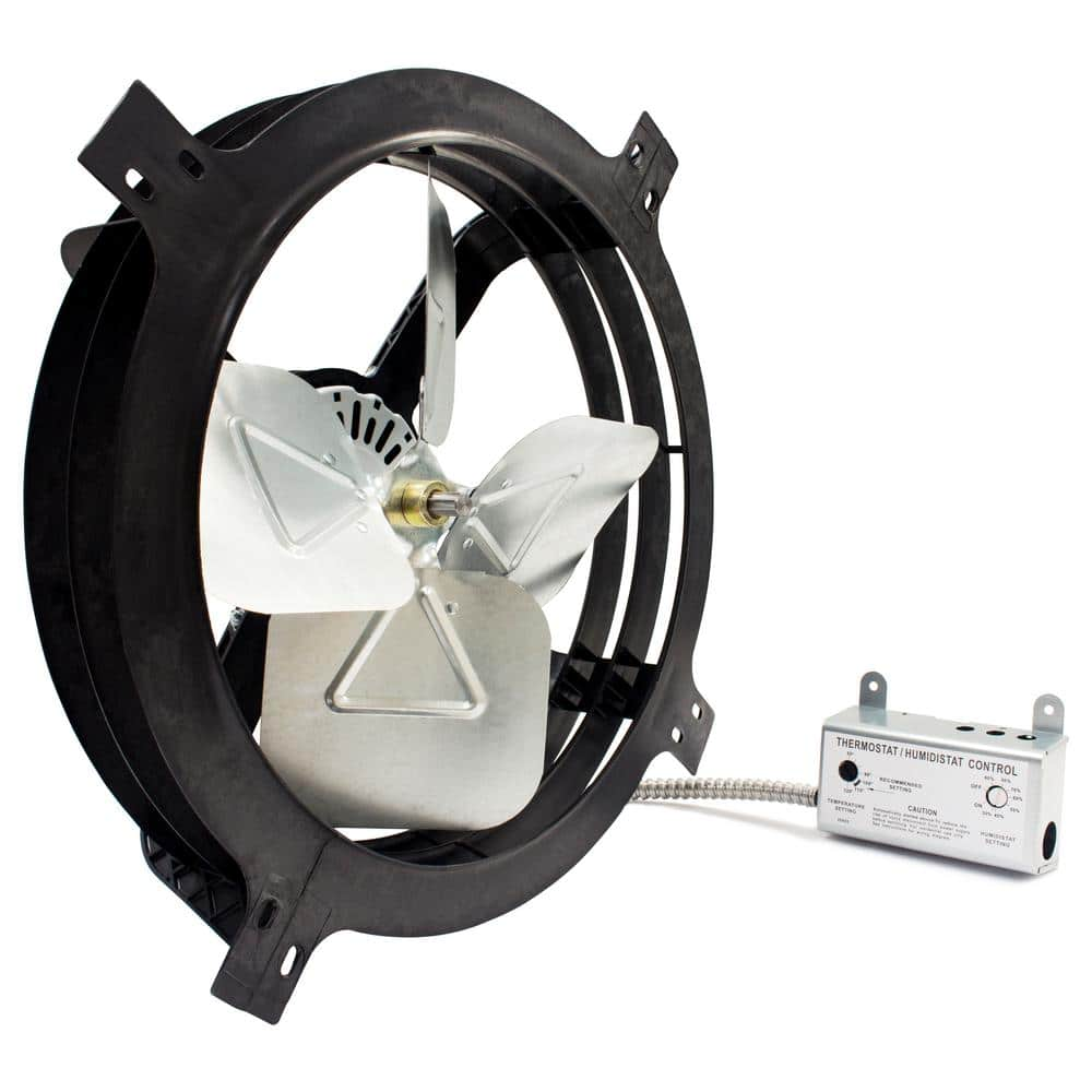 Reviews for Air Vent 20 CFM Black Electric Powered Gable Mount ...
