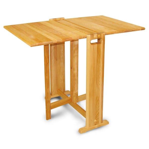 Catskill Craftsmen Natural Hardwood Butcher Block Folding Table 1622 The Home Depot