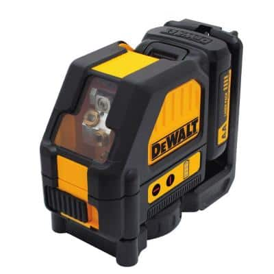 12-Volt MAX Lithium-Ion 165 ft. Red Self-Leveling Cross-Line Laser Level with (AA) Starter Kit & Case