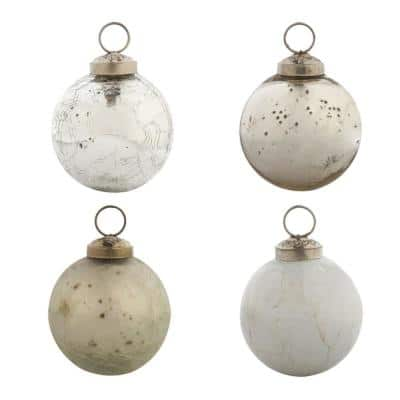 2-1/2 in. Chic Round Christmas Ornaments (12-Pack)