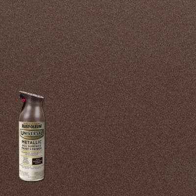 11 oz. All Surface Metallic Burnished Amber Spray Paint and Primer in One