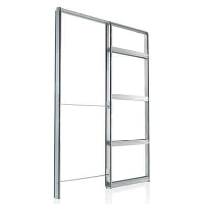 28 in. x 84 in. Galvanized Steel Pocket Door Frame Kit (2 in. x 4 in. Wall)
