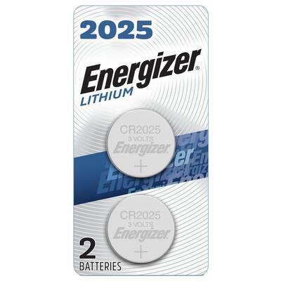 2025 Batteries (2 Pack), 3V Lithium Coin Batteries
