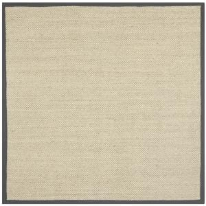 Natural Fiber Marble/Gray 6 ft. x 6 ft. Square Indoor Area Rug