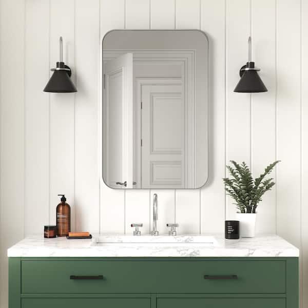 Better Bevel 24 In X 36 Metal, Vanity Mirror Bathroom
