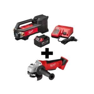 M18 18-Volt Lithium-Ion Cordless 1/4 HP Transfer Pump Kit W/ Free M18 4-1/2 in. Cut-Off/Grinder