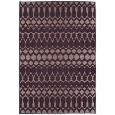 Cove Collection Purple 5 ft. 3 in. x 7 ft. 6 in. Rectangle Indoor / Outdoor Area Rug