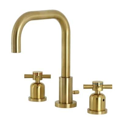 Concord 8 in. Widespread 2-Handle Bathroom Faucet in Brushed Brass