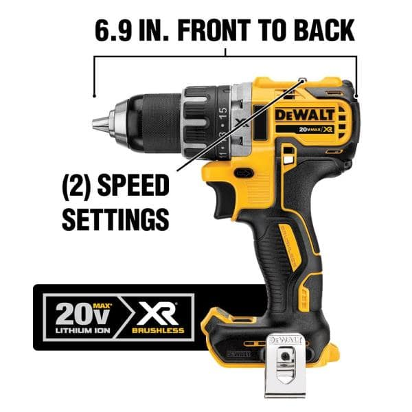 DEWALT 12-Volt MAX 1//4 inch Cordless Drill 2 Speed 15 Clutch Settings TOOL ONLY