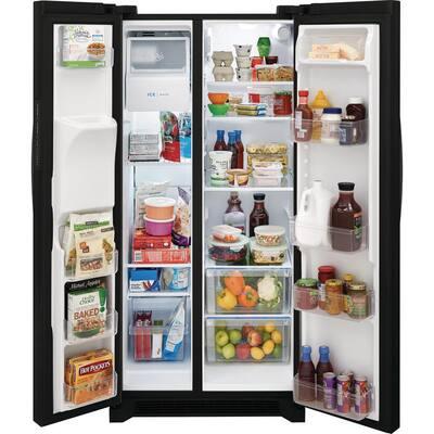 33 in. 22.3 cu. ft. Standard Depth Side by Side Refrigerator in Black